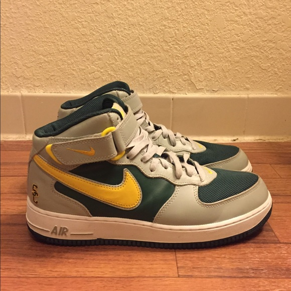 newest 0f27b cdd95 Nike Air Force 1 Mid SC Varsity Green Grey Yellow.  M 5aacc138a4c485cce208a434